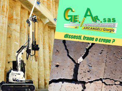 offerta consolidamento strutture promozione consolidamento terreni geognostica ge ar sas terni