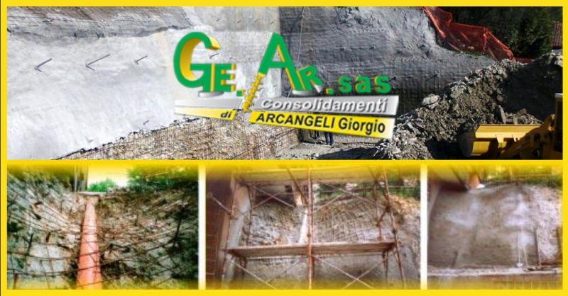 offerta consolidamento di pareti in roccia Terni - occasione realizzazione di paratie Terni