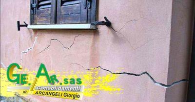 promozione interventi di riparazione crepi dei muri terni offerta iniezione resine espandenti