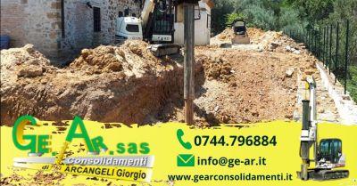occasione consolidamento pareti rocciose terni promozione realizzazione palificazione di terreni umbria