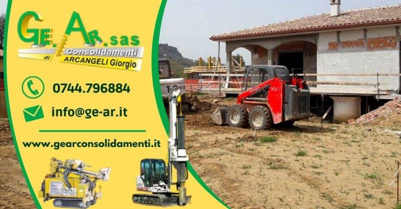 GEAR SAS - Offerta Servizio professionale di consolidamento edifici terreni Terni
