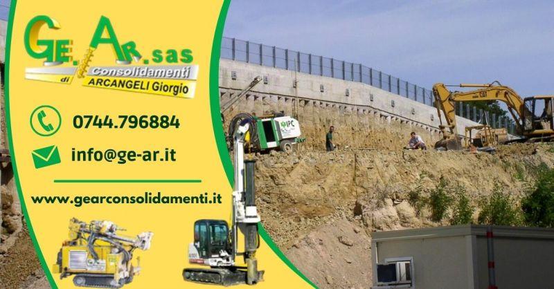 Offerta Interventi di consolidamento edilizio Terni - Occasione Servizio consolidamento terreni