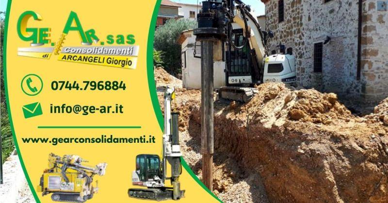 GEAR SAS - Offerta Servizio di consolidamento strutturale per cedimento di edifici Terni