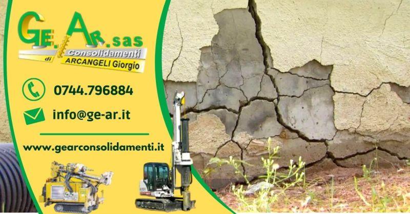 GEAR SAS - Offerta Specialisti nel rinforzo delle murature con iniezioni di resine Terni