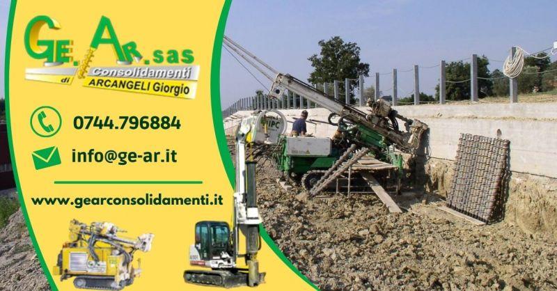 GEAR SAS - Offerta Servizio consolidamento murature con iniezioni di malta cementizia Terni