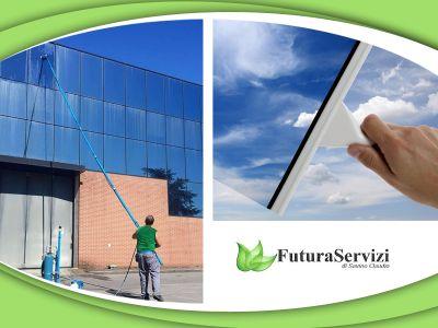 offerta lavaggio vetri esterni promozione pulizia vetri futura servizi