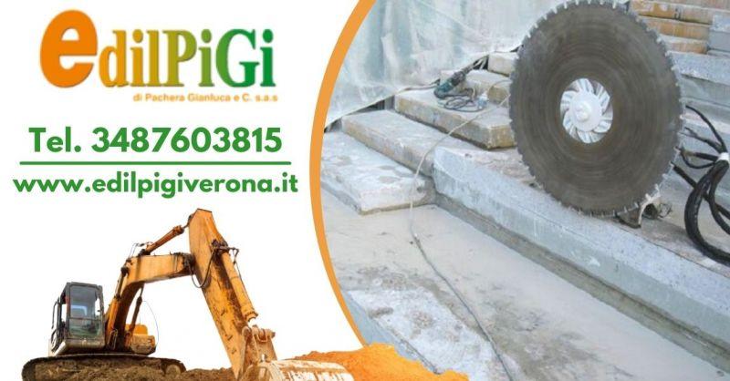 Offerta servizio taglio cemento armato Verona - Occasione trova ditta specializzata nel taglio di muri