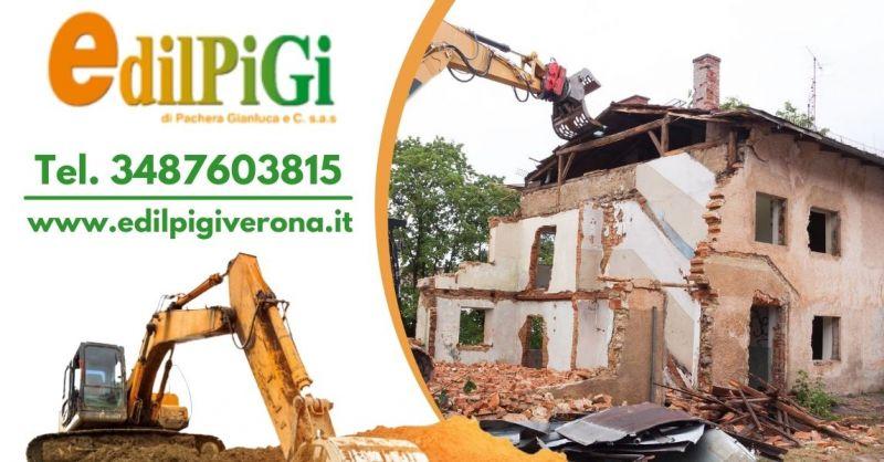 Offerta Servizio demolizione strutture edili - Occasione ditta specializzata in demolizioni Verona