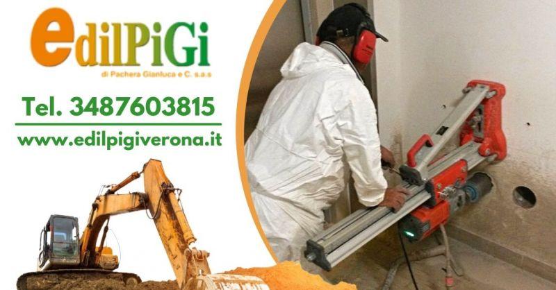 Offerta Carotaggio muro in cemento armato Verona - Occasione Servizio demolizioni controllate Verona