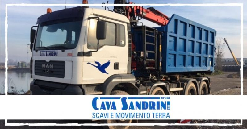 CAVA SANDRINI - Offerta servizio di consegna a domicilio materiali lapidei terra ghiaia Verona