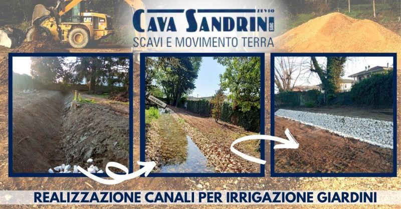 CAVA SANDRINI - Offerta Realizzazione canali per l'irrigazione di giardini provincia di Verona