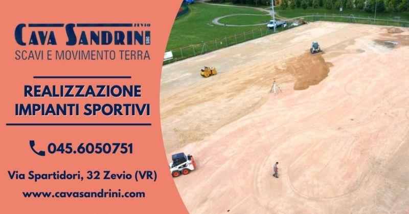 CAVA SANDRINI - Offerta Servizio realizzazione campi sportivi da calcio beach volley Verona