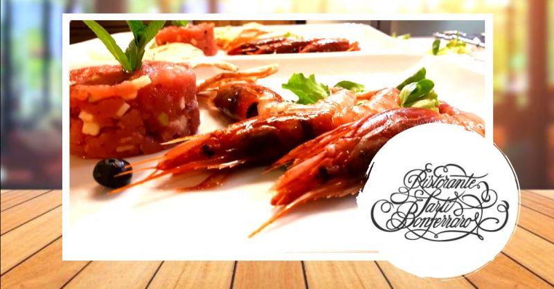 offerta ristorante con vini del territorio Mantova - occasione specialità pesce di mare Mantova