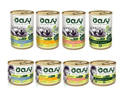 cibo umido per cani oasy vari gusti