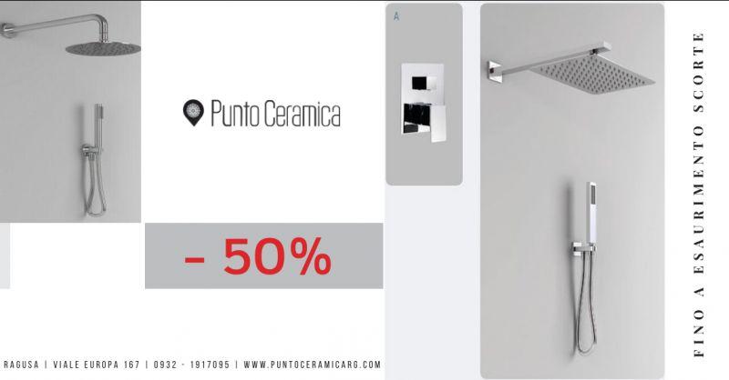 offerta kit doccia quadro con miscelatore ragusa - occasione vendita soffione e doccino ragusa
