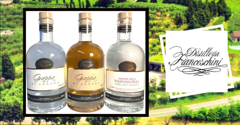 DISTILLERIA FRANCESCHINI offerta grappa di Lugana - occasione produzione grappa in barrique