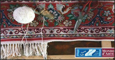 tappeto pulito offerta restauro tappeti bucati occasione restauro tappeti danneggiati