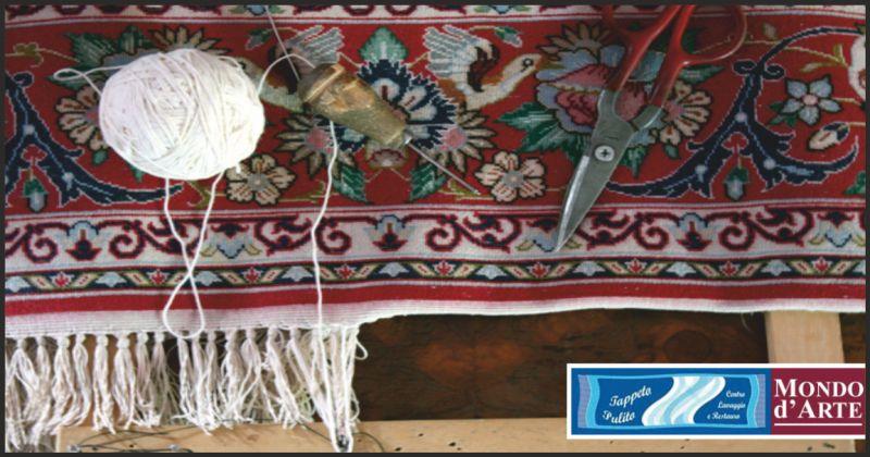 tappeto pulito offerta restauro tappeti bucati - occasione restauro tappeti danneggiati