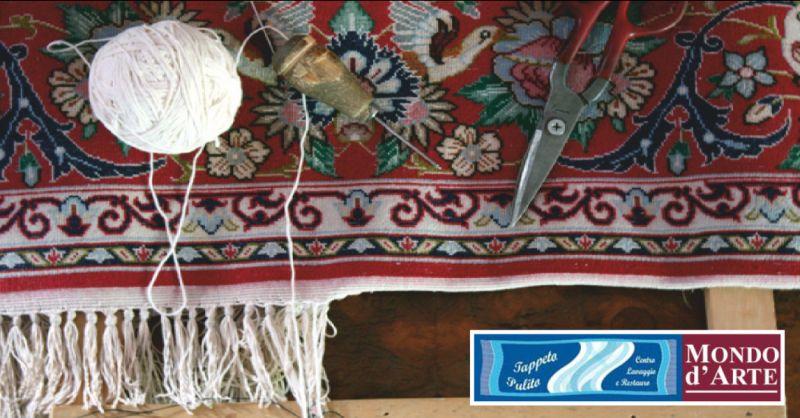 mondo d'arte offerta restauro tappeti persiani - occasione restauro completo tappeti perugia