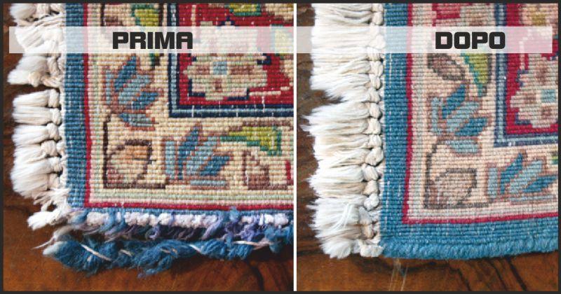 tappeto pulito offerta restauro bordo tappeto - occasione restauro frange tappe perugia