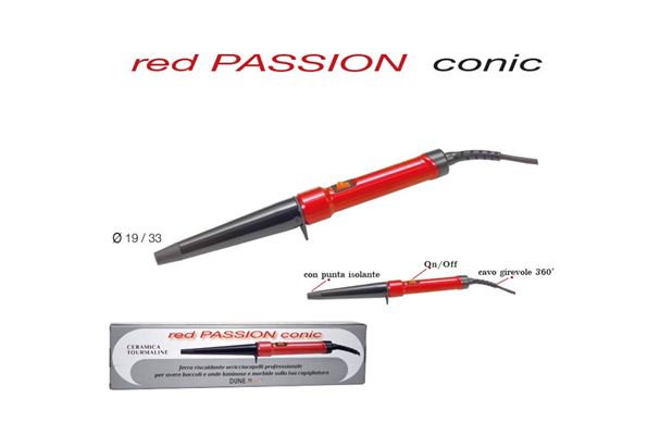 Red Passion Conic - Ferro arricciacapelli diametro conico 19/33