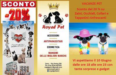 promozione offerta zaini occhiali collari ed articoli vacanza cane e gatto