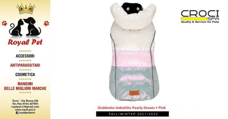 ROYAL PET - Occasione Giubbotto Imbottito Pearly Dream Pink Croci Terni