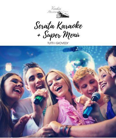 offerta karaoke promozione menu pizza carne pesce la vecchia stazione caslino derba como