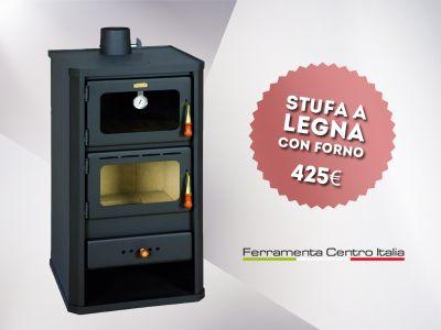 offerta stufa a legna con forno occasione vendita stufa a legna godino ferramenta centro it