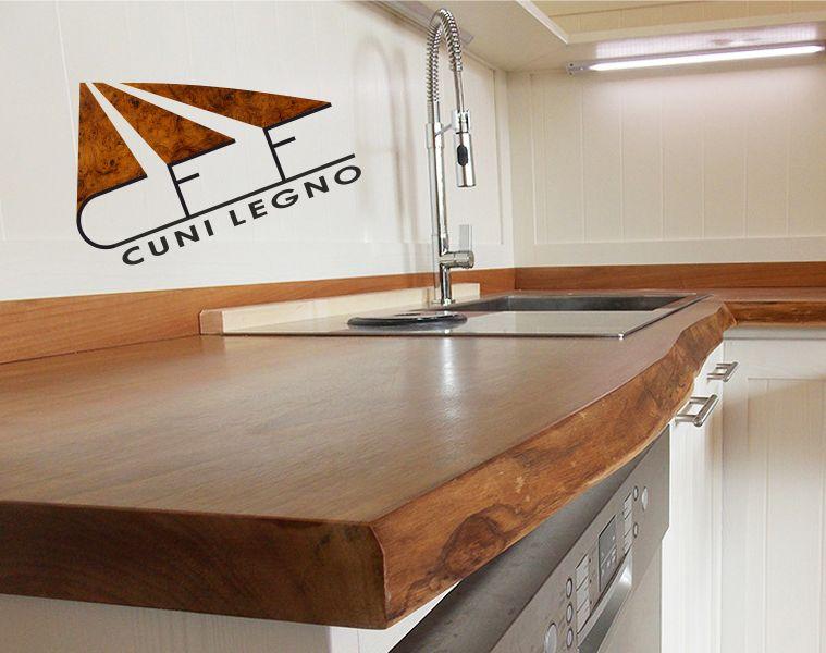CUNI LEGNO offerta piano cucina in legno - promozione top cucina in legno massello