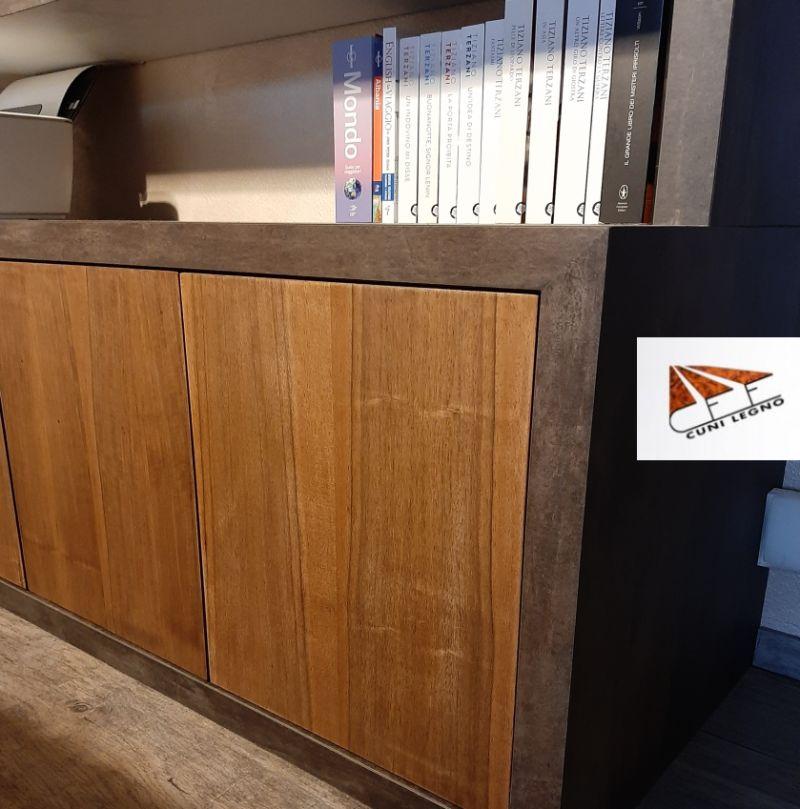 CUNI LEGNO offerta progettazione mobili sala in legno – promozione realizzazione mobili living