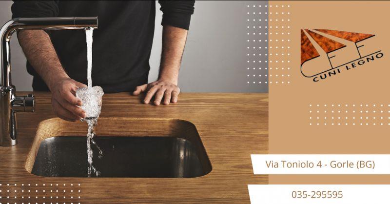 CUNI LEGNO - offerta realizzazione top cucina in legno su misura Bergamo