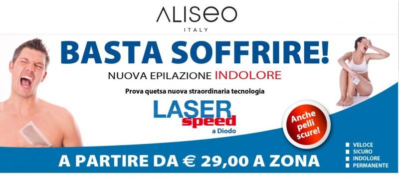 promozione servizio trattamento ringiovanimento macchie con laser a diodo aliseo italia