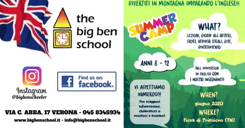 Offerta summer camp in Italia lingua inglese Verona - Promozione vacanze studio S.G. Lupatoto