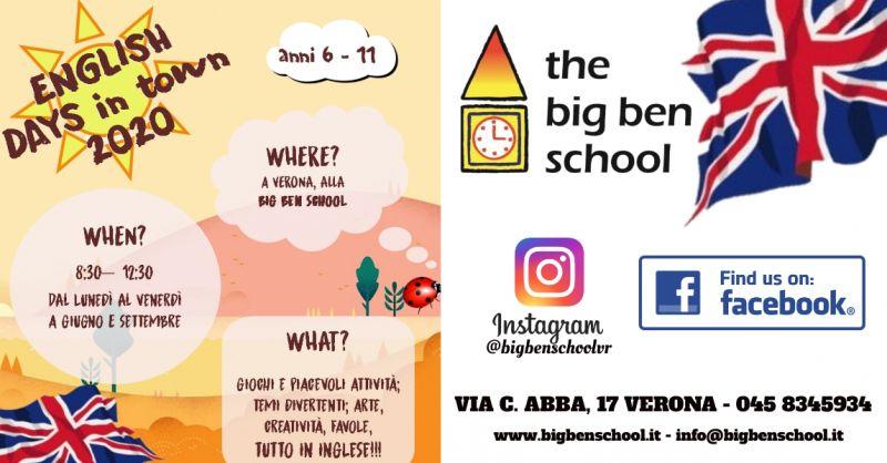 Offerta attività di gioco in lingua inglese Verona-Promozione settimana inglese per i bambini