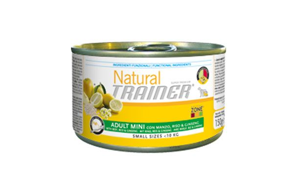 Natural trainer adult umido mini manzo