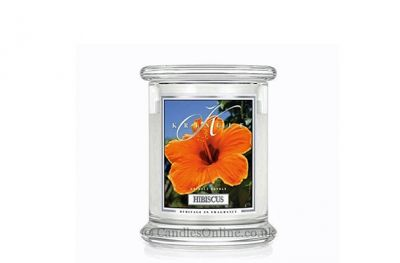 offerta candela hibiscus in giara piccola