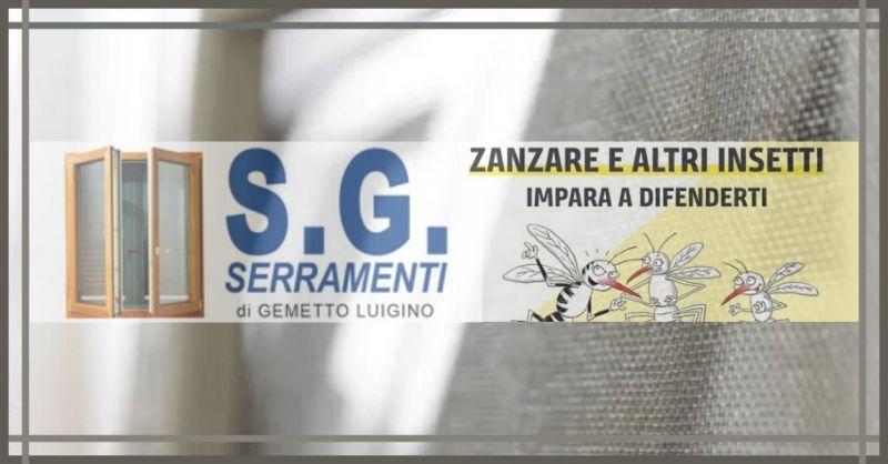 S.G. Serramenti di Gemetto Luigino - Offerta produzione installazione zanzariere su misura