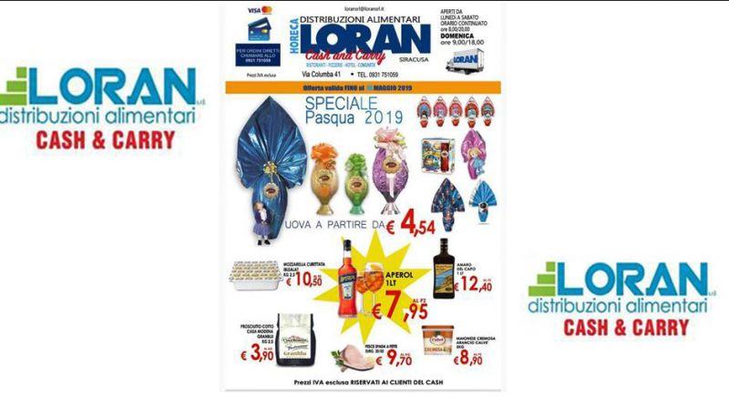 Loran Cash&carry offerta volantino pasqua - occasione prodotti alimentari scontati Siracusa