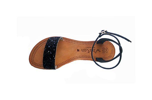 Sandalo donna in cuoio