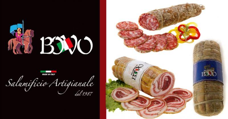 Promozione specialità pancetta arrotolata - offerta salami stagionati produzione propria Verona