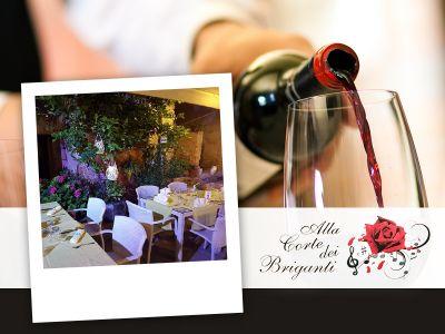 offerta ristorante con giardino esterno promozione corte esterna alla corte dei briganti