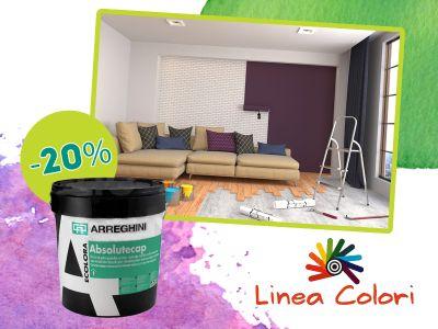 offerta arreghini absolute cap promozione pittura per interni linea colori