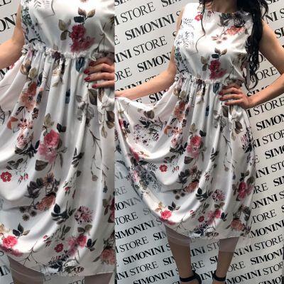 offerta abito donna tipo raso stampato