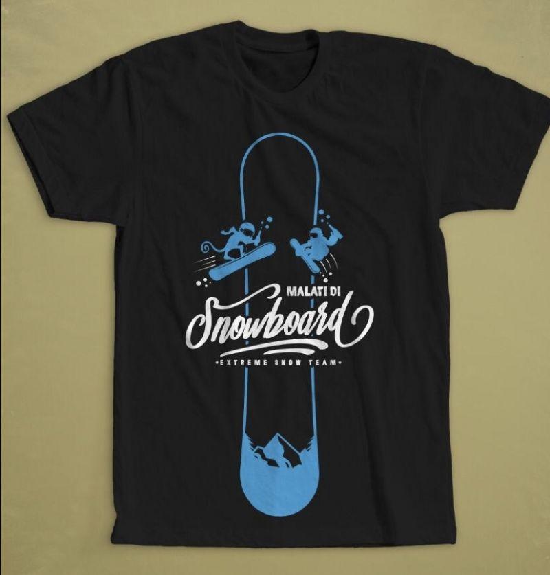 T-shirt malati di Snowboard