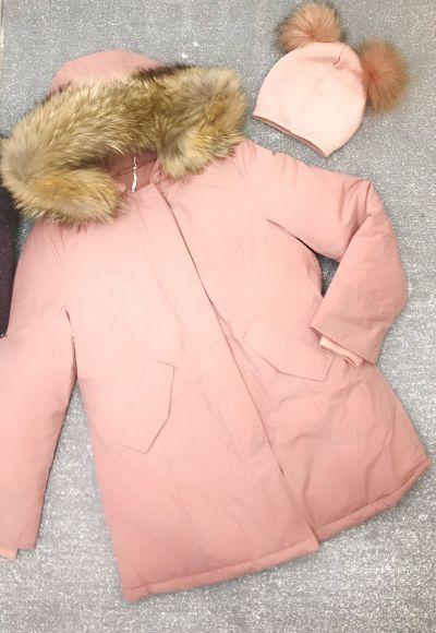 giacca piumino donna modello woolrch con collo in vera pelliccia tg xs s m l xl