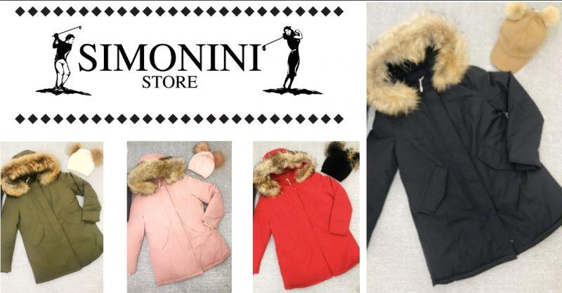 Simonini Store - offerta vendita giacca modello woolrch - occasione giacca collo vera pelliccia