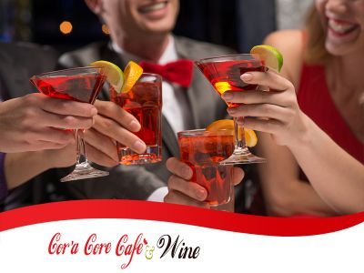 offerta aperitivo con buffet promozione happy hour cora core cafe wine