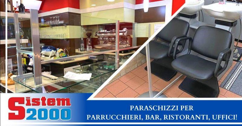 Offerta realizzazione installazione barriere paraschizzi per bar ristoranti parrucchieri Cosenza