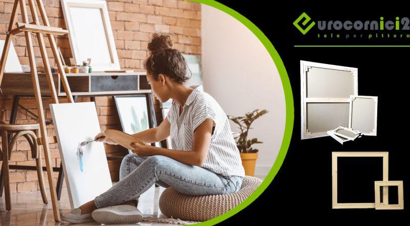 Eurocornici 2 – offerta tele pittoriche artigianali per dipingere – promozione tele pittoriche artigianali vendita online